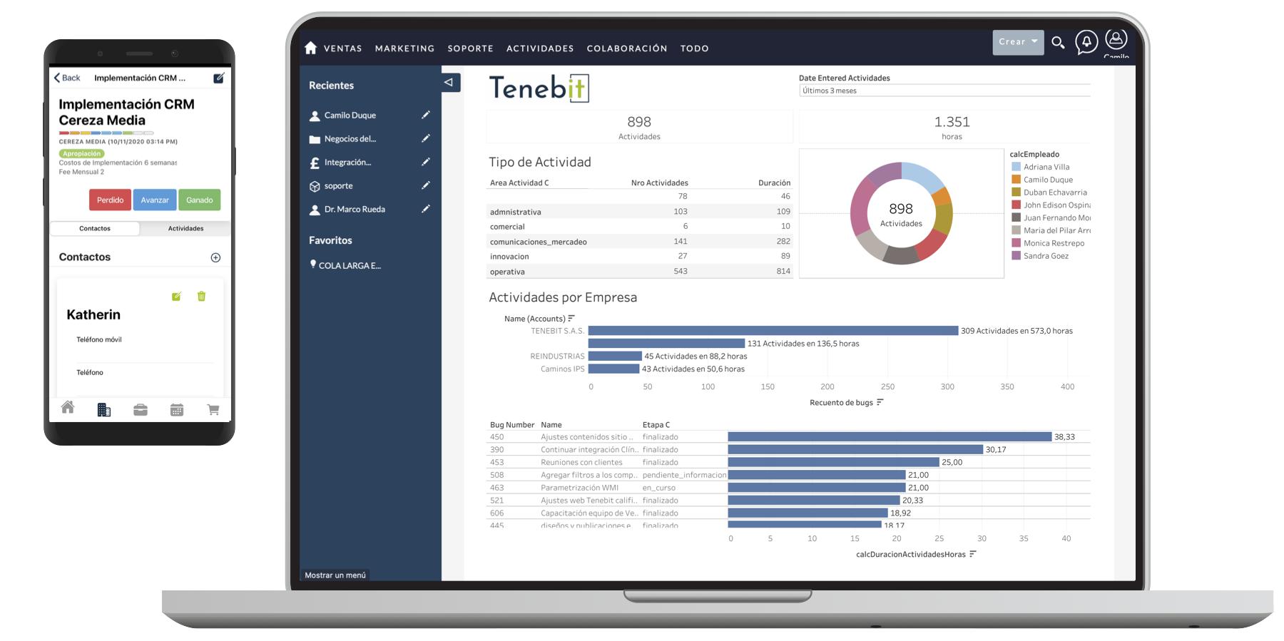 Tenebit CRM Movil y App